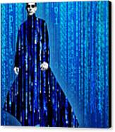 Matrix Neo Keanu Reeves Canvas Print by Tony Rubino