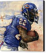 Matt Forte Canvas Print by Michael  Pattison