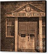 Mayberry Courthouse Canvas Print by David Arment