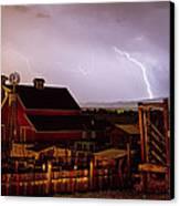 Mcintosh Farm Lightning Thunderstorm Canvas Print by James BO  Insogna
