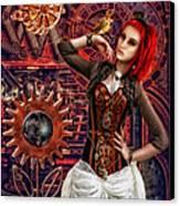 Mechanical Garden Canvas Print by Mo T