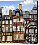 Medieval Houses In Rennes Canvas Print by Elena Elisseeva