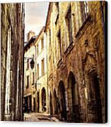 Medieval Street In Perigueux Canvas Print by Elena Elisseeva
