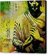 Meditating Buddha Canvas Print by Corporate Art Task Force