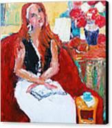 Meditation Canvas Print by Becky Kim