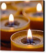 Meditation Candles Path Canvas Print by Olivier Le Queinec