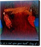 Meditation Number 3 Song Of Songs Canvas Print by Maryann  DAmico