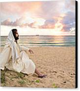 Meditation Of Christ Canvas Print by Lois Colton