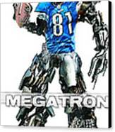Megatron-calvin Johnson Canvas Print by Peter Chilelli