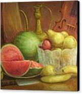 Melody With Fruits Canvas Print by Michael Chesnakov