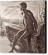 Memnon's Statue Canvas Print by Bernard Picart