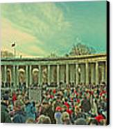 Memorial Amphitheater At Arlington National Cemetery Canvas Print by Tom Gari Gallery-Three-Photography