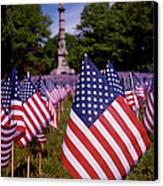 Memorial Day Flag Garden Canvas Print by Rona Black