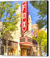 Memories Of The Fox Theatre Canvas Print by Mark E Tisdale