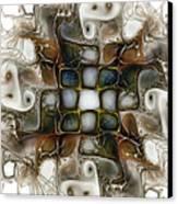 Memory Boxes-fractal Art Canvas Print by Karin Kuhlmann