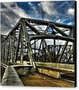 Memphis - Memphis And Arkansas Bridge 002 Canvas Print by Lance Vaughn