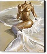 Mermaid Canvas Print by Karina Llergo Salto