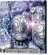Merry Christmas Blue Canvas Print by Mo T