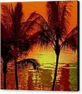 Metallic Sunset Canvas Print by Athala Carole Bruckner