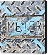 Meter Cover Canvas Print by Tom Gowanlock