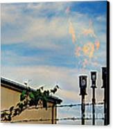 Methane Flares Canvas Print by MJ Olsen