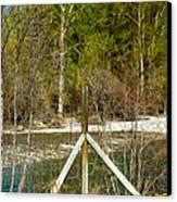 Methow River Springtime Canvas Print by Omaste Witkowski