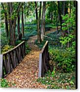 Metroparks Pathway Canvas Print by Frozen in Time Fine Art Photography
