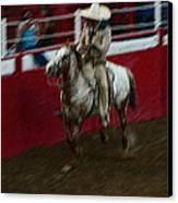 Mexican Cowboy July 4th Rodeo Chandler Arizona 1999 Canvas Print by David Lee Guss