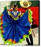 Mexican Dancers Canvas Print by Elisabeta Hermann