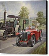 Mg Sports Car. Canvas Print by Mike  Jeffries