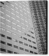 Miami Architecture Detail 1 - Black And White Canvas Print by Ian Monk