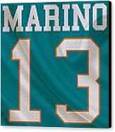Miami Dolphins Dan Marino Canvas Print by Joe Hamilton
