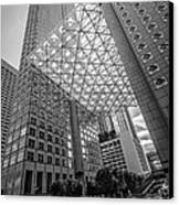 Miami Downtown Shadow Play - Black And White Canvas Print by Ian Monk