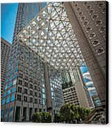 Miami Downtown Shadowplay Canvas Print by Ian Monk