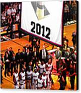 Miami Heat Championship Banner Canvas Print by J Anthony