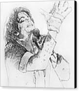 Michael Jackson Passion Sketch Canvas Print by David Lloyd Glover