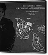 Michael Jackson Patent Canvas Print by Aged Pixel