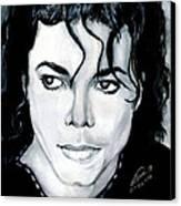 Michael Jackson Portrait Canvas Print by Alban Dizdari