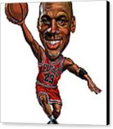 Michael Jordan Canvas Print by Art