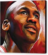 Michael Jordan Artwork 2 Canvas Print by Sheraz A