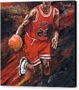 Michael Jordan Chicago Bulls Basketball Legend Canvas Print by Christiaan Bekker