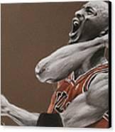 Michael Jordan - Chicago Bulls Canvas Print by Prashant Shah