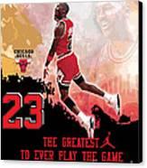 Michael Jordan Greatest Ever Canvas Print by Israel Torres