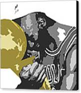 Michael Jordan Canvas Print by Mike Maher