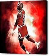 Michael Jordan Canvas Print by NIcholas Grunas Cassidy
