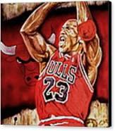 Michael Jordan Oil Painting Canvas Print by Dan Troyer