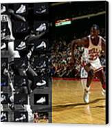 Michael Jordan Shoes Canvas Print by Joe Hamilton