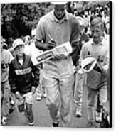 Michael Jordan Signing Autographs Canvas Print by Retro Images Archive
