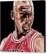Michael Jordan The Intimidator Canvas Print by Israel Torres