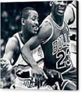 Michael Jordan Trying To Get Position Canvas Print by Retro Images Archive